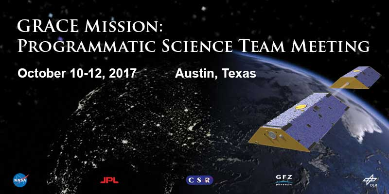 Registration and Call for Abstracts for GRACE Mission Programmatic Science Team Meeting