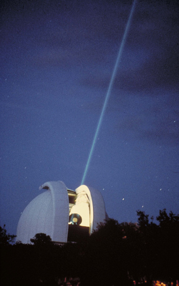 Lunar Laser on the Harlan J. Smith Telescope