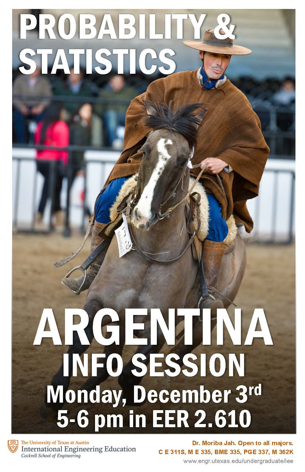Probability & Statistics Argentina Info Session on 12/3