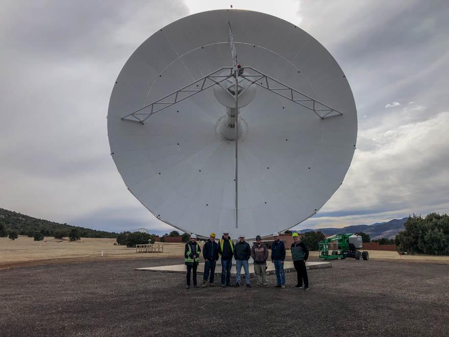 McDonald Geodetic Observatory's VLBI Antenna Dish