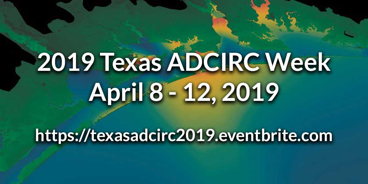 Register for 2019 Texas ADCIRC Bootcamp