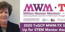 Margaret Baguio, Program Manager for Education and Outreach, awarded Million Women Mentors – Texas 2020 Stand Up for STEM Mentor Award.