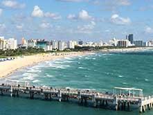 Image of Miami Beach coastline
